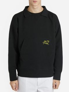 Raf Simons Sweaters In Black Polo Neck, Raf Simons, Black Sweaters, Mens Fashion, Sweatshirts, Cotton, Shopping, Clothes, Style