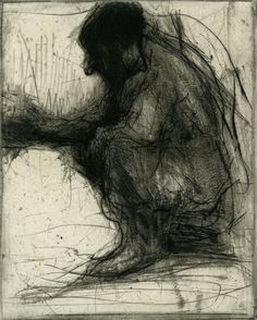 "Lee Newman ""Homeless"" i really like the use of charcoal and the thin lines floating around the body"