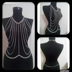 silver body chain body necklace body chain https://www.etsy.com/shop/MukoShop