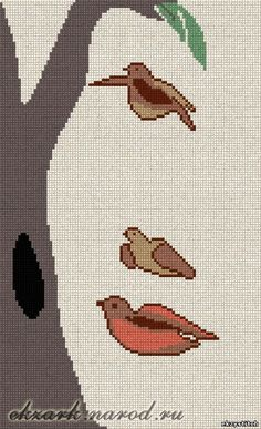 Download free cross-stitch design Birds/Girl. **Note, link no longer works. Find a link to a site where this pattern can be purchased.
