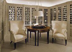 wine cellar, sans the stone, avec comfort.