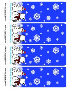 Education World: December Bookmark Template (Color)