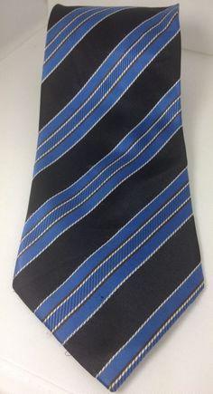 H.G. Thrash Lubbock Hand Made 100% Silk  Blue Black Men's Neck Tie #Handmade #NeckTie