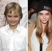 cara develigne then and now