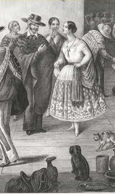 detail First edition. Not in standard sources. This is a separately issued lithograph, not an individual plate plucked from a lithographic album, such as the fandango plate in Castro's México y sus alrededores albums (1855-1856), which can be found separately on the market from time to time. This lithograph is the first large-format lithograph of the Mexican fandango, and would serve as a model for subsequent fandango plates, including an almost immediate knockoff by Currier and Ives, 1848;