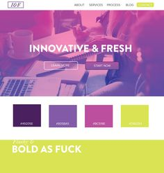 Fresh and innovative , bold as fuck, design  color scheme ideas
