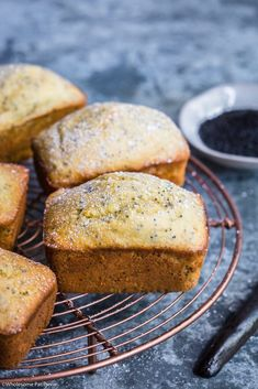 simple cake batter made into mini cake loaves! (Could easily be made dairy free using dairy free butter) Cake Sans Gluten, Gluten Free Cakes, Muffins, Cupcakes, Cupcake Cakes, Bundt Cakes, Orange Poppy Seed Cake, Orange Cakes, Cupcake Recipes