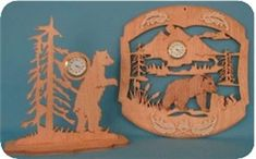 Sports Scroll Saw Patterns | Bear Mini Clocks