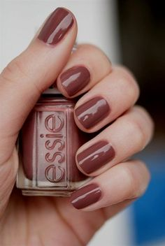 Essie Over The Knee [Did they make this color just for me? bmf] Essie Over The Knee [Did they Nail Tip Designs, Colorful Nail Designs, Gel Nail Polish, Gel Nails, Brown Nail Polish, Brown Nails, Essie Nail Polish Colors, Nail Nail, Nail Polishes