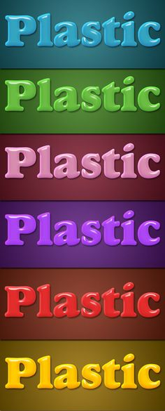 Plastic Layer Style - 6 Colors