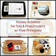 Every Star Is Different: Hockey Activities for Tots & Preschoolers w/ Free Printables