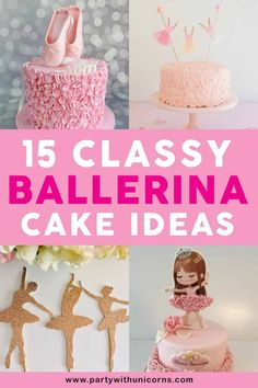 Are you making a Ballerina Birthday cake for your Ballerina birthday party? This list of 15 Ballerina Cake ideas will give you everything you need to make the perfect ballet cake for your little ballerina or dancer. Ballerina cake ideas | Ballerina Cakes | Easy Ballerina Cakes | Male Dancer Cake ideas | Ballerina Cake pops | Ballerina Cake Toppers | Ballerina Cake Pans #ballerina #ballerinacake Ballerina Cake Pops, Ballerina Party Favors, Ballerina Party Decorations, Girl Birthday Decorations, Girls Birthday Party Games, Ballerina Birthday Parties, Birthday Cakes, Birthday Ideas, Diy Cake Topper