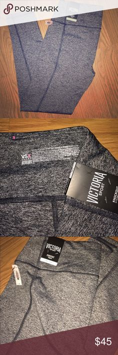 VSX Sport Knockout leggings Size large. Brand new with tags. A gift from an out of state relative who didn't send any gift receipt. I wanted different ones. Anyway, these have a hidden pocket also have a hidden drawstring on the inside of the waistband, the pink part in picture 4. My loss your gain! Victoria's Secret Pants Leggings