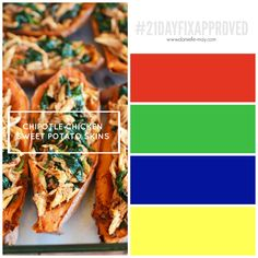 21 Day Fix Approved Chipotle Chicken Sweet Potato Skins To reserve a spot in my upcoming Love Your Body Boot Camp and earn instant access to my Client Resource Page filled with tips, tricks, forms and meal plans click here: http://www.danielle-may.com/#!join-a-challenge/cdvz