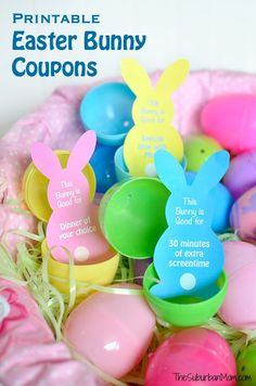 Kids love redeeming these free printable Easter Bunny coupons for special family time. Easy Easter Egg fillers and Easter basket ideas.