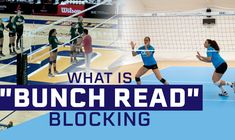 "Coaches, do you understand ""bunch read"" blocking? In this video, Luka Slabe explains the merits of ""bunch read"" blocking, which is a strategy where the pin blockers pinch in closer to the middle blocker in order to be ready to assist the middle blocker in blocking sets through the seams. Check it out to learn more!"