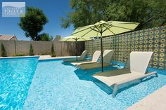 Lawn chairs in the pool...yes, please!
