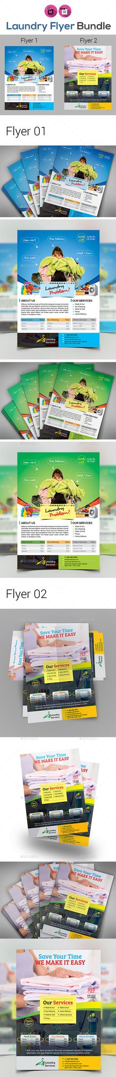 Laundry Services - Flyer Template | Pinterest | Laundry service ...