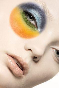 Multicolored Eyeshadow 'Wheel', Editorial Makeup.