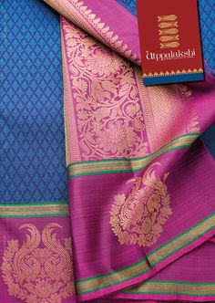 Dancing peacock motif border with floral design in zari for Pallu. Can it get…