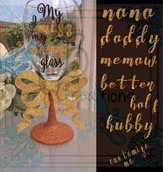 I miss my #momma wine glass! The stem is glittered and hand washable safe! The design is done in permanent vinyl and will last for years to come! A great gift for someone or... #etsy #leftbraincreations #halloween2016 #shannarabon #shannacorwin #fallsale2016 #tealpumpkinproject #teal2016 #allergybags #allergyalertbags #mimi ➡️ http://jto.li/ySeyS