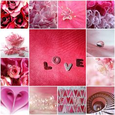 Love in pink Beautiful Small Tattoos, Beautiful Love Quotes, Beautiful Collage, Kiss Show, Collages, Kinds Of Kisses, Movie Kisses, Color Collage, Mood Colors