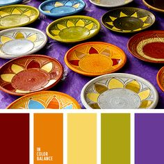 Finally a color palette I actually like that doesn't have pink!! brick red, orange, saffron, olive, and violet