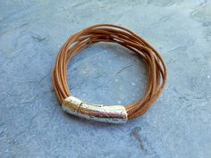 Tough and sturdy natural brown leather by JHFWBeadsAndFindings