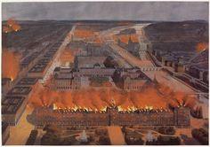 01-022339 Panorama de Paris. Incendie des Tuileries, 24 mai 1871 Anonyme Paris…