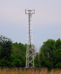 Small Rogers Wireless cellular tower located right next to the 402 Hwy in Sarnia, Ontario.