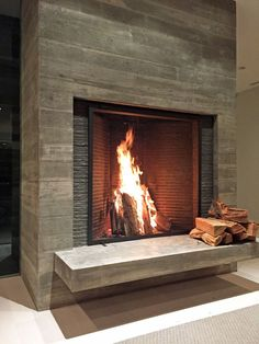 Stylish 42 Fabulous Living Rooms Design Ideas With Fireplace. Rumford Fireplace, Wooden Fireplace, Concrete Fireplace, Rustic Fireplaces, Fireplace Screens, Home Fireplace, Fireplace Remodel, Fireplace Surrounds, Fireplace Design