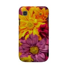Daisy Bouquet Samsung Galaxy S Case  Pretty Purple and Yellow daisies look all soft and inviting on this Samsung Galaxy S (T-Mobile Vibrant) Case-Mate Barely There™ Case