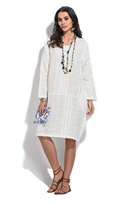 Bella blue  Dress ANNA  Women  LXL  White *** ** AMAZON BEST BUY -affiliate link** #WhiteTheme