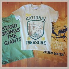 Get outside and enjoy the great outdoors in our national treasures tees.