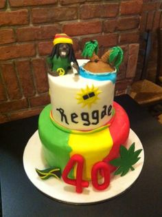 La torta jamaicana realizzata per i 40 anni di un nostro amico del Pikkio