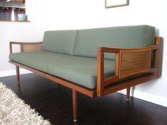 Mid Century Danish Modern Peter Hvidt Style Sofa by rhanvintage