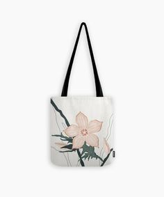 Botanical inspired tote bag Christmas gift for her. Modern high quality floral shopping/ gym bag in earthy neutral tones, dusty pink and olive green in neutral backgound. Christmas Bags, Christmas Gifts For Her, Minimalist Artwork, Cute Presents, Organic Lines, Gifts For An Artist, Yoga Bag, Summer Accessories, Printed Tote Bags
