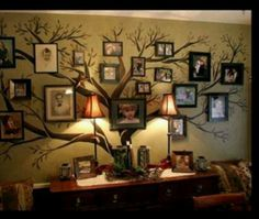 Family tree on wall... Exactly how I imagined doing one!!!