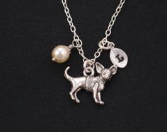 Chihuahua-Charm Silber vergoldet Chihuahua von treasuredcharms