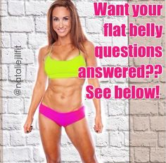How do I get abs? How do I get a flat belly?  Your flat belly questions answered - Natalie Jill