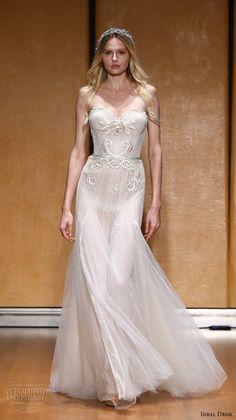 inbal dror 2017 bridal strapless sweetheart neckline heavily embellished bodice romantic princess modified a  line wedding dress (027) mv