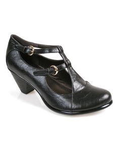 Take a look at this Black Maiden Shoe by Fashion Savvy: Women's Boots & Shoes on #zulily today!