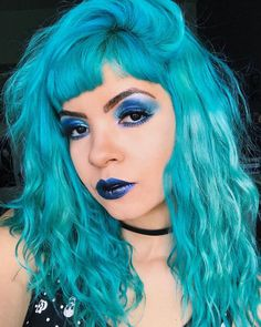 rocking our Cyan Sky and amazing all blue makeup look Turquoise Hair, Teal, Blue Makeup Looks, Dyed Hair Blue, Shades Of Blue, Hair Inspiration, Short Undercut, Undercut Hairstyles, Instagram