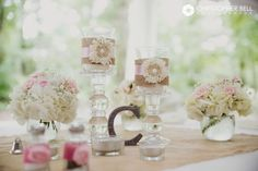 Country Chic Wedding Decor | Farm Wedding | Wedding Tables | Morning Glory Farm Monroe, NC  Christopher Bell Photography | Charlotte NC Wedding Photographer and Videographer