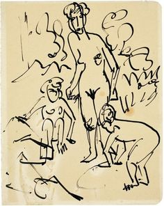 Mother and Children by @artistkirchner #expressionism