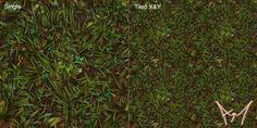 Hand Painted Tiling Grass Texture mk1 by amehroke