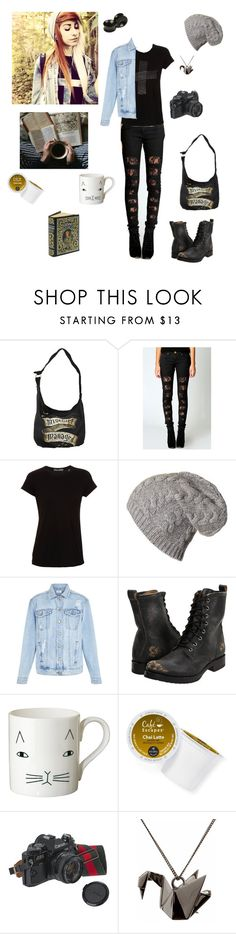 """""""*yawn*"""" by evangeline-purdy-girl ❤ liked on Polyvore featuring Boohoo, Vince, New Look, Frye, Donna Wilson, Keurig, American Eagle Outfitters and Origami Jewellery"""