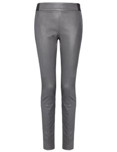 Grey Leather Quilted Leggings   Thakoon Addition