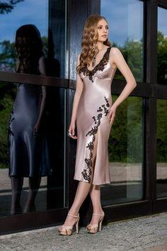 4e95c0480a Silk Nightgown, Silk Chemise, Satin Nightie, Lingerie Sleepwear, Nightwear, Night  Gown