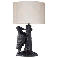 The unusual woodpecker lamp is part of the Patch Shop at Target this fall.